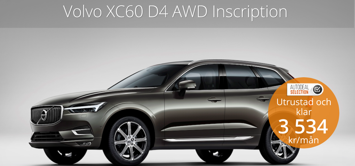 <h1>Volvo XC60 D4 AWD Inscription</h1>