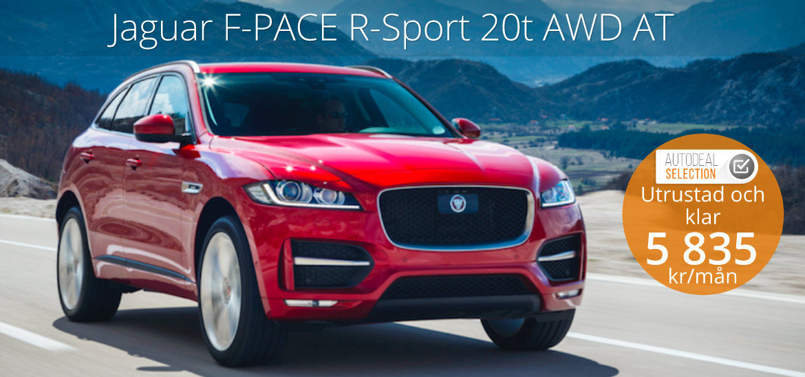 <h1>Jaguar F-PACE R-Sport 20t AWD AT</h1>