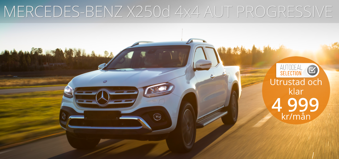 <h1>MERCEDES-BENZ X250d 4&#215;4 AUT PROGRESSIVE EDITION</h1>