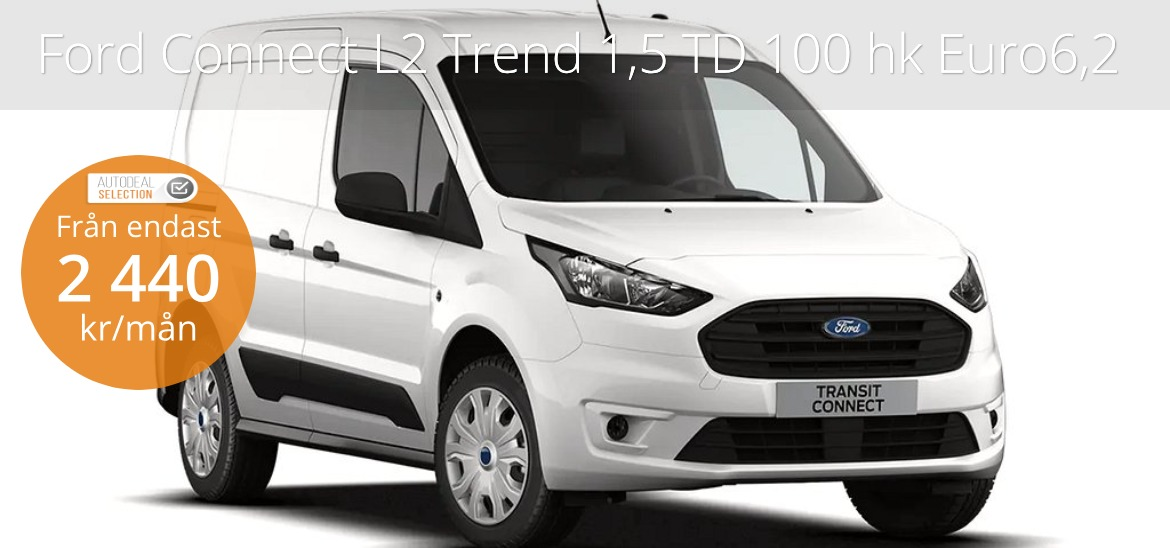 <h1>Ford Transit Connect L2 Trend 1.5TD100hk Euro6.2 A8 FWD</h1>
