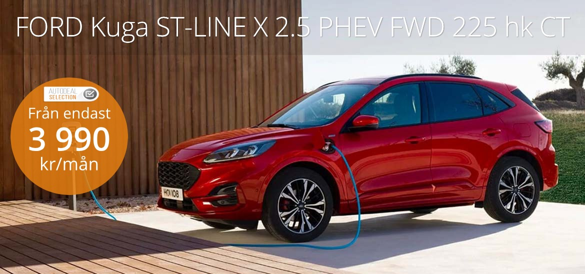<h1>FORD Kuga ST-LINE X 2.5 PHEV FWD 225 hk CT</h1>